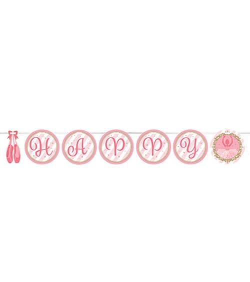 "Happy Birthday Girlande ""Prima Ballerina"" - 3,33 m"