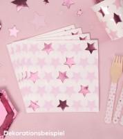 """Servietten """"Little Star Pink"""" - 16 Stück"""