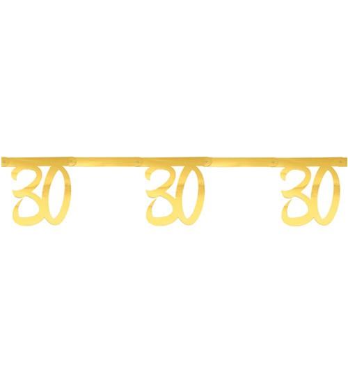 """Zahlengirlande aus Papier """"30"""" - metallic gold - 2,5 m"""