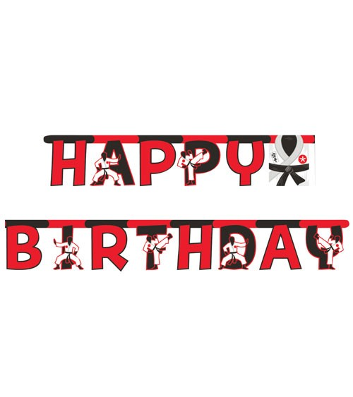 "Happy Birthday-Girlande ""Karate"" - 3,04 m"