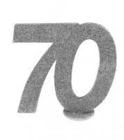 """Tischaufsteller """"70"""" - silber - 11 x 10 cm"""