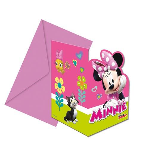 """Einladungskarten """"Minnie Happy Helpers"""" - 6 Stück"""