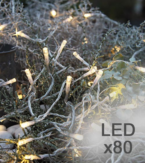Lichterkette mit 80 LED - 8 m