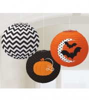 "Lampion-Set ""Halloween"" - 24 cm - 3-teilig"