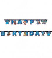 "Happy Birthday Girlande ""Paw Patrol - Helfer auf vier Pfoten"" - 2,4 m"