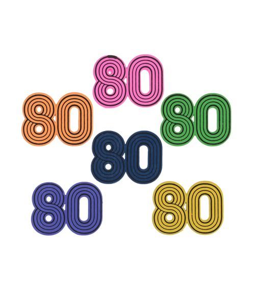 "Streuteile aus Holz ""80's"" - 10 Stück"