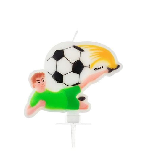 """Kuchenkerze """"Fußballer"""" - 8 x 7 cm"""