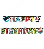 """Happy Birthday-Girlande """"Kleiner Pirat"""" - 1,8 m"""
