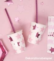 """Pappbecher  """"Little Star Pink"""" - 8 Stück"""