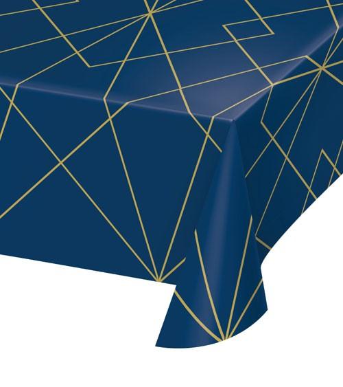 "Kunststoff-Tischdecke ""Geo Navy"" - 137 x 259 cm"