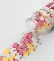 """Funcakes Zuckerdekore """"Schmetterlinge"""" - rosa, gelb, weiß - 50 g"""