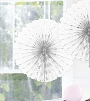 Papier-Deko-Fächer - 45 cm - weiß