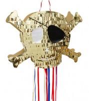 "DIY Pinata ""Totenkopf"" - gold - 42 x 31 x 7 cm"