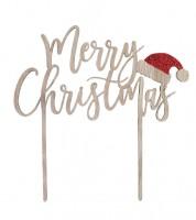 "Cake Topper aus Holz ""Merry Christmas"""