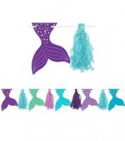 """Tasselgirlande mit Flossenanhänger """"Mermaid Wishes"""" - 3,04 m"""