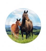 """Kleine Pappteller """"Pferde"""" - 8 Stück"""
