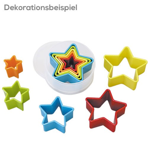 "Ausstecher-Set ""Sterne"" aus Plastik - 6-teilig"