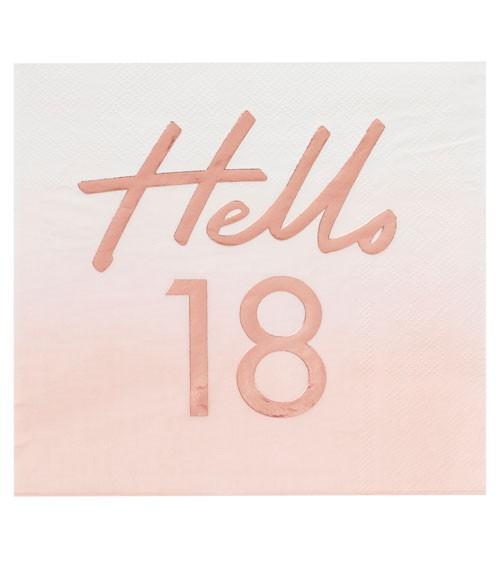 """Servietten """"Mix it up"""" - Hello 18 - ombre rosa, rosegold - 16 Stück"""