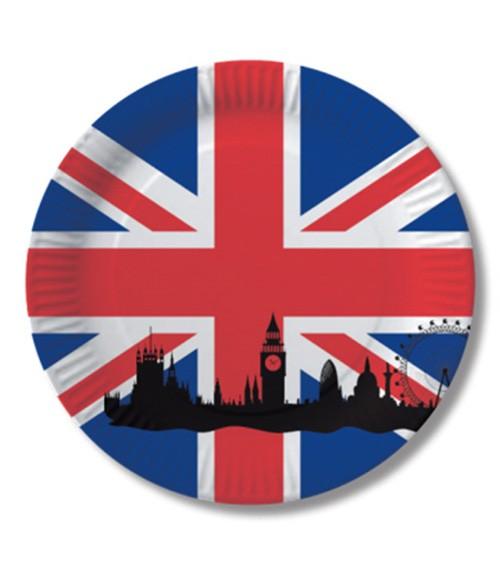 """Pappteller """"England"""" - 8 Stück"""