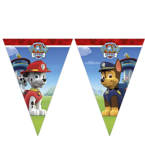 """Wimpelgirlande """"Paw Patrol - Ready for Action"""" - 2,3 m"""