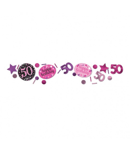 """Konfetti """"Sparkling Pink"""" - 50. Geburtstag - 34 g"""