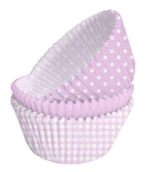 Muffinförmchen-Set - rosa - 75 Stück