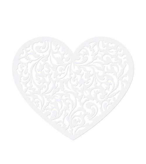 """Papierdekoration """"Herz mit Ornamenten"""" - 10 Stück - 13 cm"""