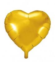 Herz-Folienballon - gold - 61 cm