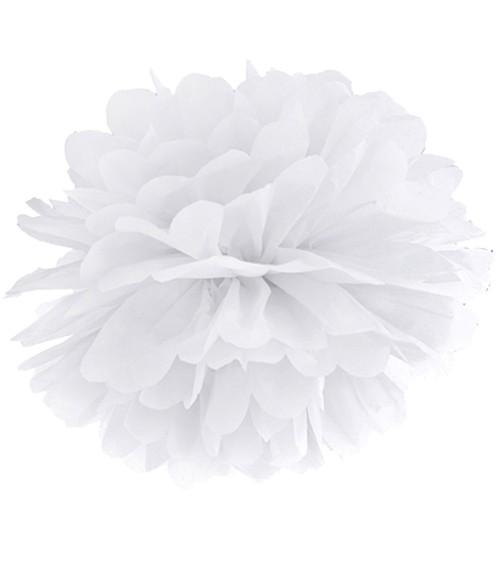 Pom Pom - 35 cm - weiß