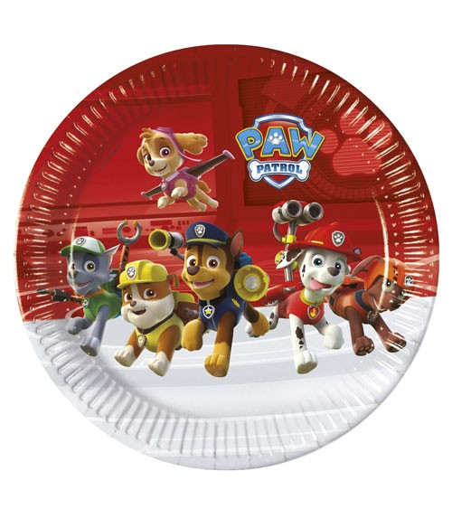 """Pappteller """"Paw Patrol - Ready for Action"""" - 8 Stück"""
