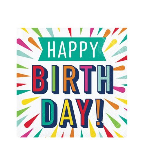 """Cocktail-Servietten """"Birthday Colours"""" - Happy Birthday - 16 Stück"""