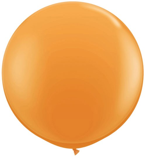 Riesiger Rundballon - orange - 90 cm