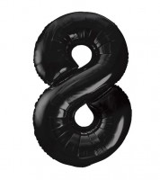 "Supershape-Folienballon ""8"" - schwarz - 86 cm"