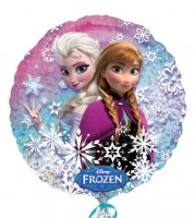 """Runder Folienballon """"Die Eiskönigin -  Elsa und Anna"""""""