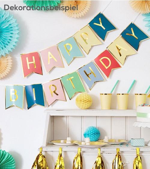 """DIY-Wimpelgirlande """"Happy Birthday"""" - Farbmix - 1,75 m"""