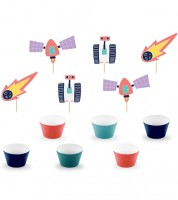 "Cupcake Kit ""Space Party"" - 6 Stück"