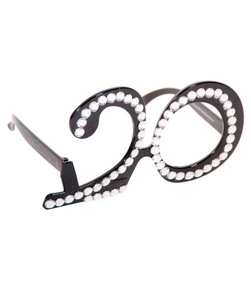 """Party-Brille """"20. Geburtstag"""" - schwarz"""