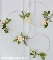 "Goldene Ringe zum Verzieren ""Floral Hoops"" - 3-teilig"