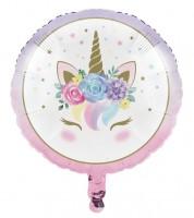 "Runder Folienballon ""Unicorn"" - 45 cm"