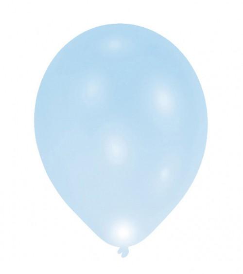 Leucht-Ballons - hellblau - 5 Stück