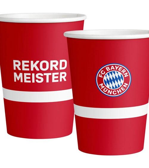 """Große Pappbecher """"FC Bayern München"""" - 6 Stück"""