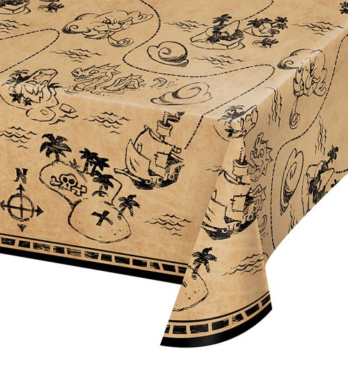 """Kunststoff-Tischdecke """"Piratenschatz"""" - 137 x 259 cm"""