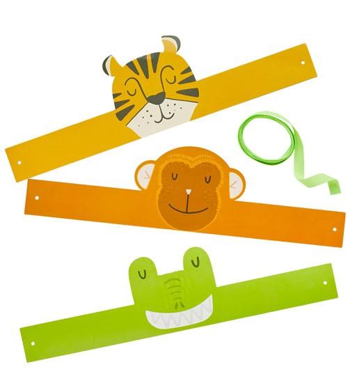 """Stirnbänder aus Pappe """"Jungle Animals"""" - 6 Stück"""