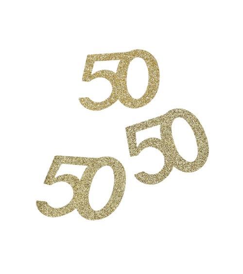 """Streuteile """"50"""" - glitter gold - 10 Stück"""