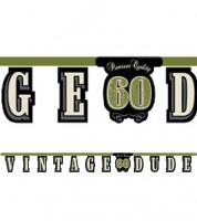 """Schriftzuggirlande """"Vintage Dude - 60. Geburtstag"""" - 2,67 m"""