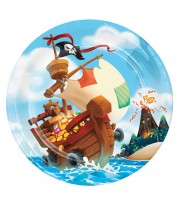 """Pappteller """"Piratenschatz"""" - 8 Stück"""