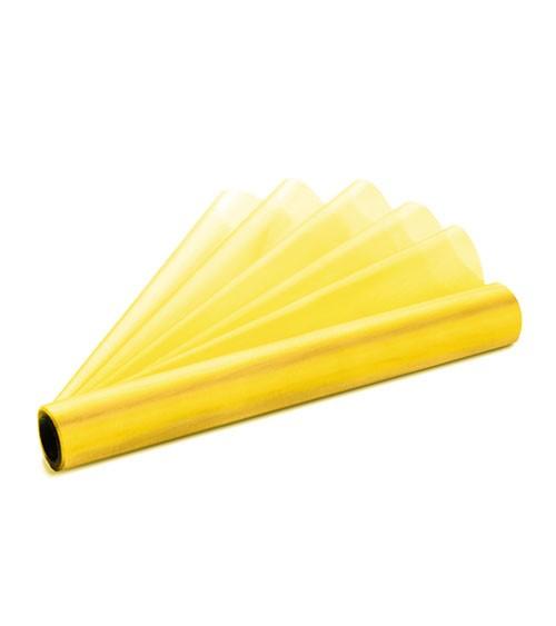 Organza-Tischläufer - gelb - 36 cm x 9 m