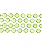 Kristallgirlande - hellgrün - 1 m