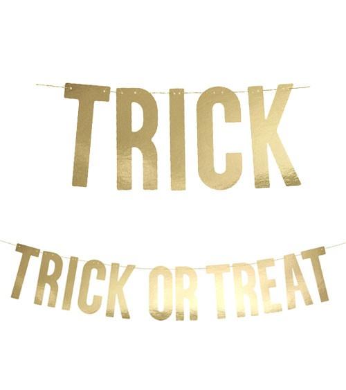 """""""Trick or Treat""""-DIY-Girlande - metallic gold - 80 cm"""
