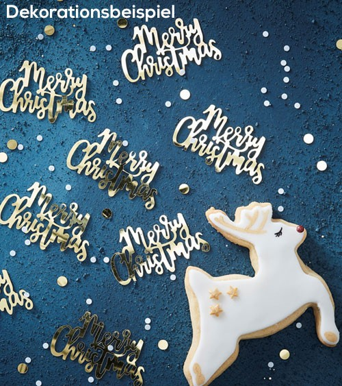 "Streukonfetti ""Merry Christmas"" - metallic gold -14g"